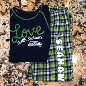 Girls Seahawk Pajama Set